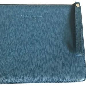 SALVATORE FERRAGAMO Unisex Blue Leather Document H